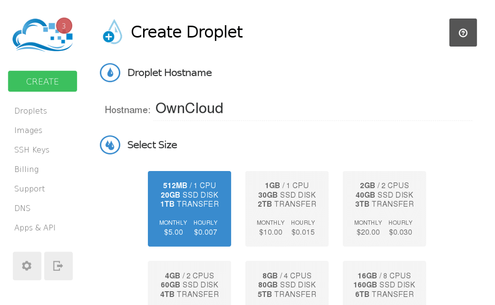 digital ocean droplet setup